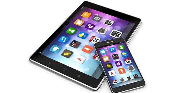 Image of a smartphone and tablet