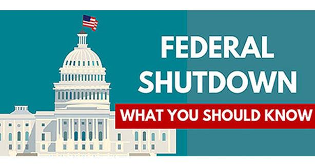 Federal shutdown graphic
