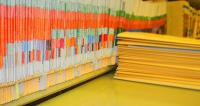 photo of a row of files